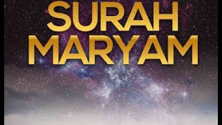 Surah Maryam سورة مريم - Ismail Annuri إسماعيل النوري