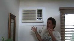 Wall mounted AC unit: what's the damper knob for?