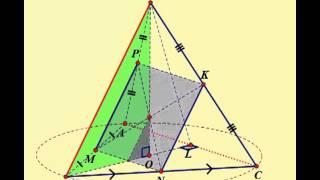 Правильный тетраэдр  Сечение   квадрат