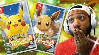 Pokemon Let's Go Pikachu & Let's Go Eevee REACTION!