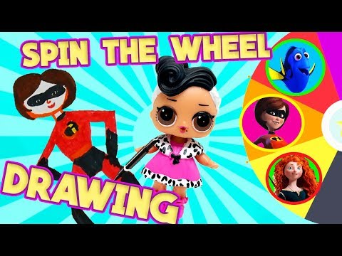 LOL Surprise Dolls Pixar Spin the Wheel Drawing Games! With Dollface and Sugar   LOL Dolls Families