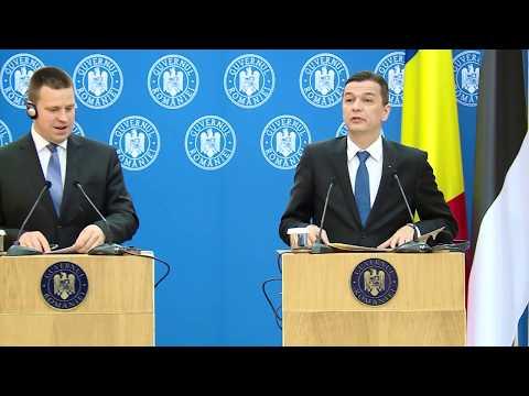24.05.2017 Declaratii de Presa cu premierul Estoniei, Jüri Ratas 1