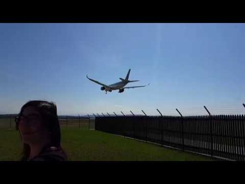 First A350 landing at Zurich Qatar Airways from DOHA