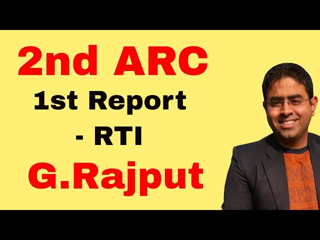 1st Report 2nd ARC RECOMMENDATIONS Right to information RTI