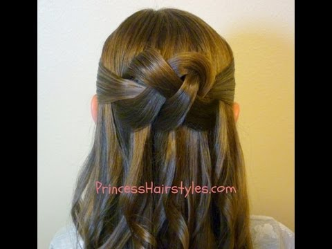 """Woven Knot"" Half Up Hair Style, Homecoming Hairstyles"