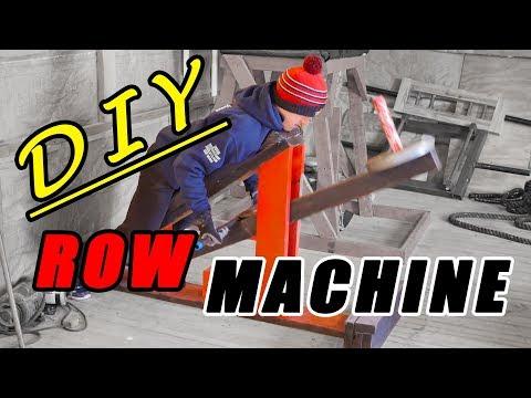 Homemade Wooden Row Machine | Home Gym Essentials