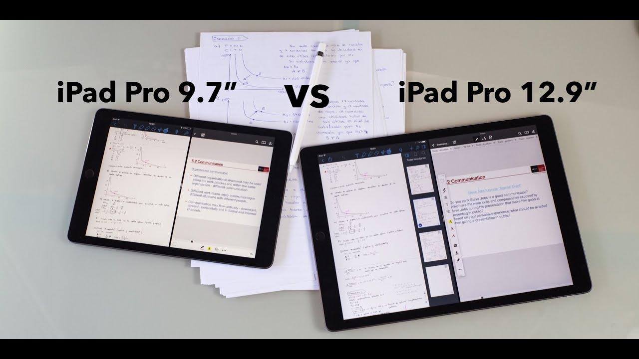 comparativa apple ipad pro 9 7 vs ipad pro 12 9 en. Black Bedroom Furniture Sets. Home Design Ideas