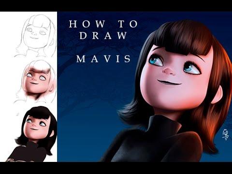 how to draw mavis from hotel transylvania step by step