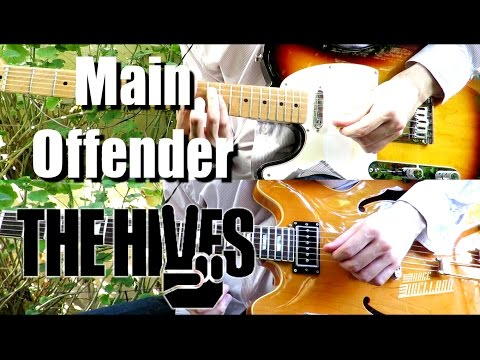 Main Offender - The Hives ( Guitar Tab Tutorial & Cover )