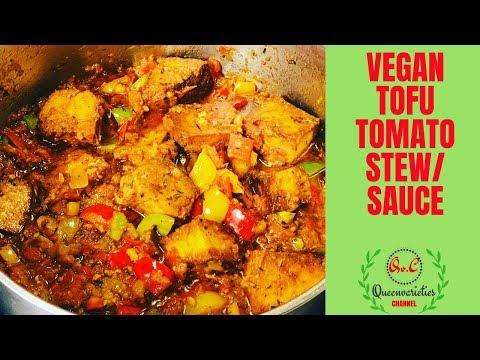 ✅NIGERIAN VEGAN STEW RECIPE/ HOW TO MAKE VEGAN TOFU TOMATO STEW (SAUCE)