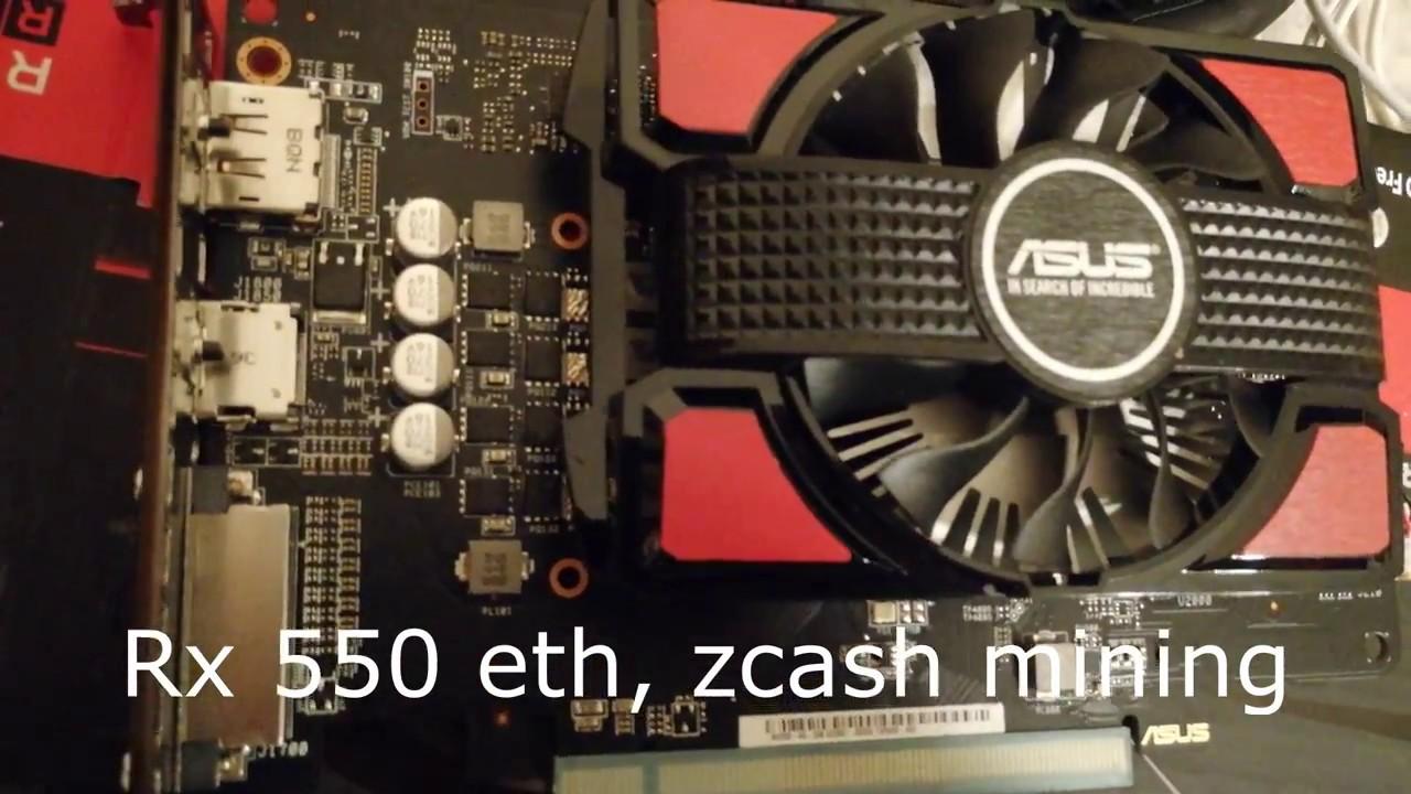 rx 550 mining ETH/Zcash
