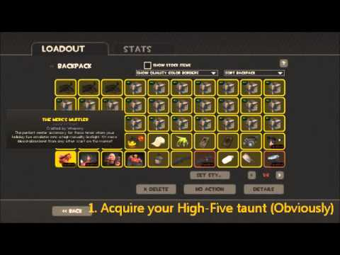 Tf2 How To Do The High Five Taunt Trick Better Way In