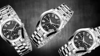 relgio emporio armani unisex chronograph stainless steel bracelet black dial watch 37mm ar0674