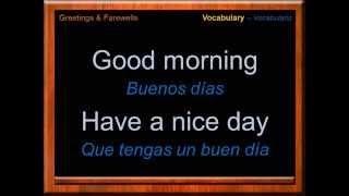 Saludos y Despedidas en Inglés | Vocabulario en Inglés | Greetings & Farewells | Aprende Inglés