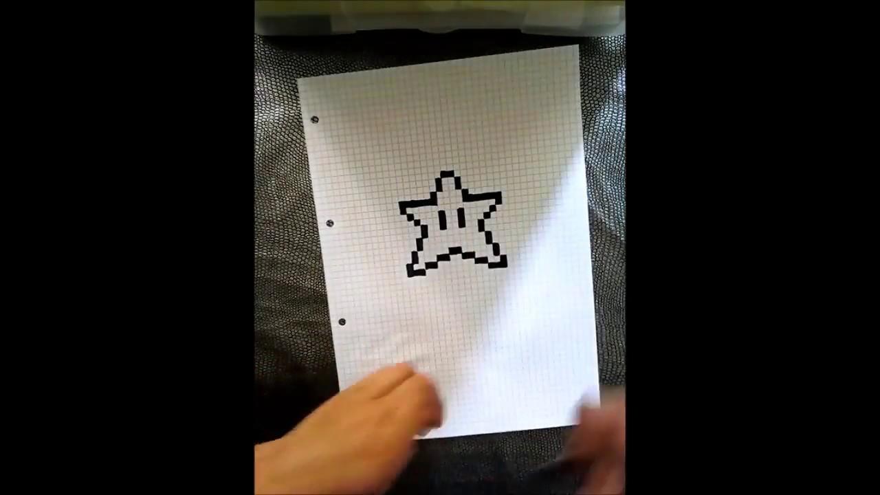 Pixel Art Apprendre A Dessiner Une Etoile Mario Youtube