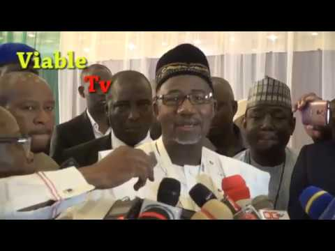 Just In : Bauchi Governor-Elect, Bala Attends NGF Induction, Speaks on His Arraignment