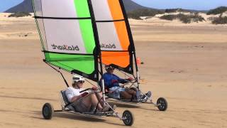 Land Sailing in Fuerteventura near Corralejo