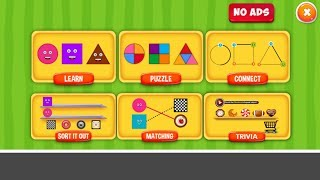 Shapes Puzzles for Kids  Free App from EduBuzzKids for Android and IOS