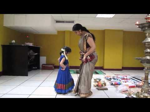Aghosha's first dance class with Asha Sarath