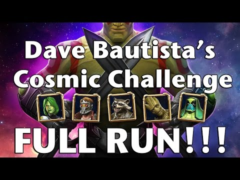 Dave Bautista's Cosmic Challenge [FULL LEGEND RUN WITH TIMER!] - Marvel Contest of Champions