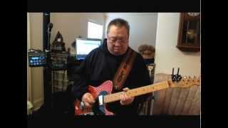 "Steve Lau the Hong Kong Cowboy plays ""The Fugitive"" on his Telecaster."