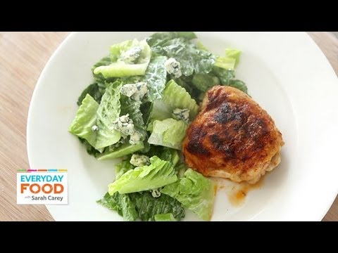 Buffalo chicken thighs with celery and blue cheese salad everyday buffalo chicken thighs with celery and blue cheese salad everyday food with sarah carey forumfinder Choice Image