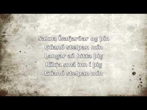 Gúanó stelpan - Mugison texti