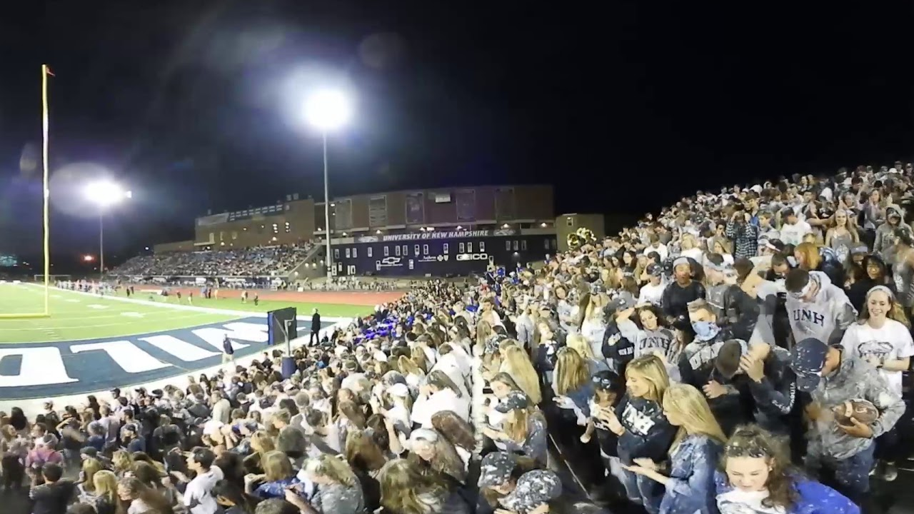 360 Video of Chalk Toss at UNH vs Maine Football Game