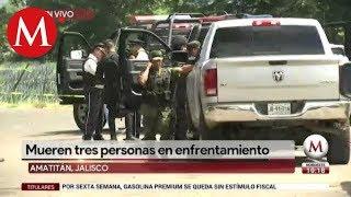 Hombres armados atacan a policías en Amatitán, Jalisco