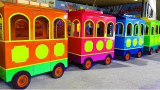 Wheels On The Bus - Basic Nursery Rhymes | Ulyana Pretend Play in outdoor playground for kids
