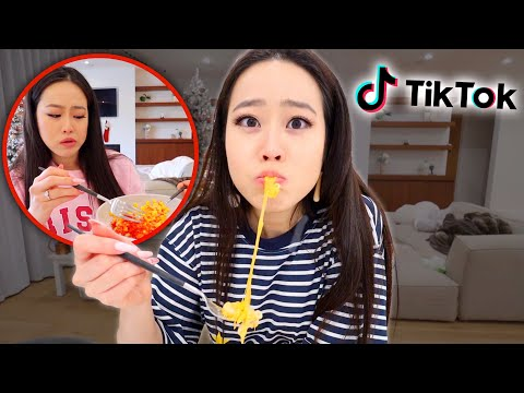 TIK TOK DECIDES WHAT I EAT FOR 24 HOURS CHALLENGE!