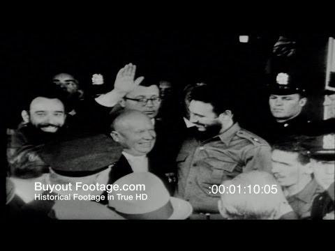 HD Stock Footage Cold War - Cuban Missile Crisis, DEFCON 3, JFK, Khrushchev, Castro