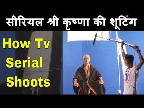 टीवी सीरियल के सेट पे कैसे काम होता है Paramavatar Shri Krishna -On location #filmyfunday