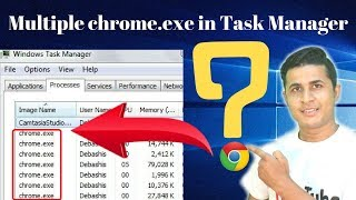 Why Multiple chrome.exe in Task Manager in hindi
