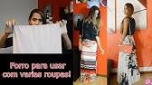 33c5b07ff Saia Anita longa transparente em tule Powerlook - preta - YouTube