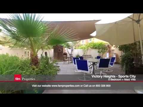 Dubai Sports City - Victory Heights: Luxury 5 Bedroom Villa for Sale
