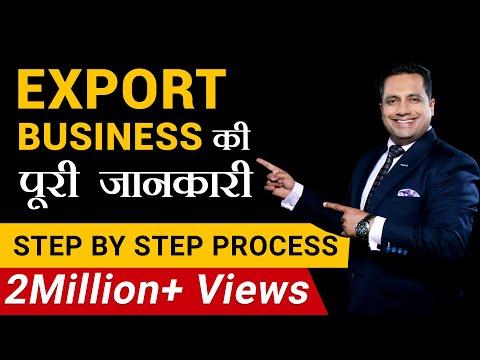 Export Business | पूरी जानकारी  | Step by Step Process | FIEO | Dr Vivek Bindra