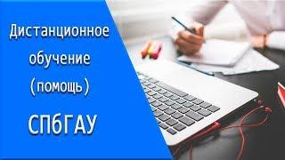 СПбГАУ: дистанционное обучение, личный кабинет, тесты.