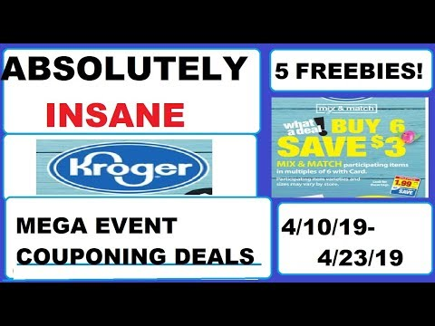 ABSOLUTELY INSANE Kroger Mega Event Couponing Deals!- 4/10/19-4/23/19- 5 FREEBIES!
