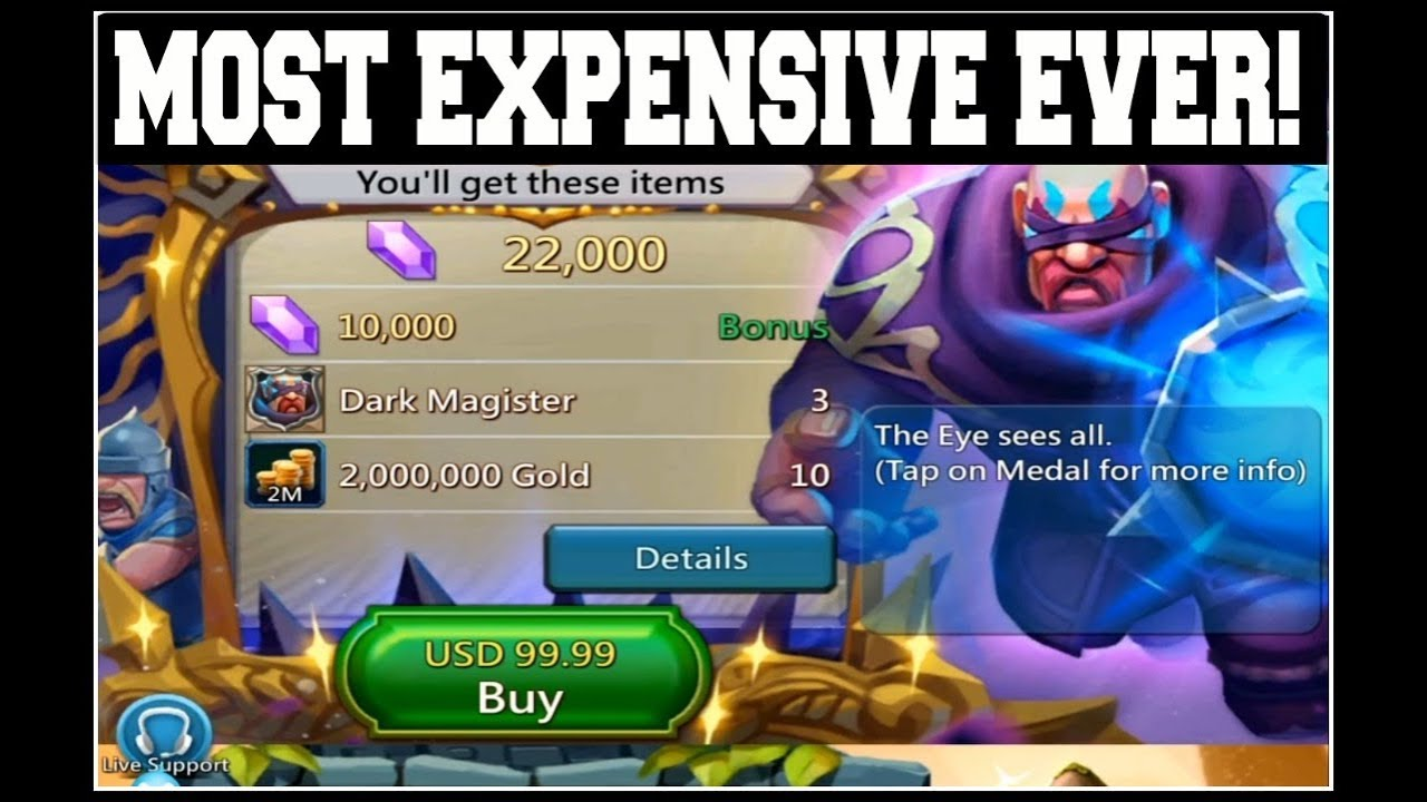 Fuck Videos For Mobiles with regard to lords mobile: dark magister most expensive hero ever! - youtube