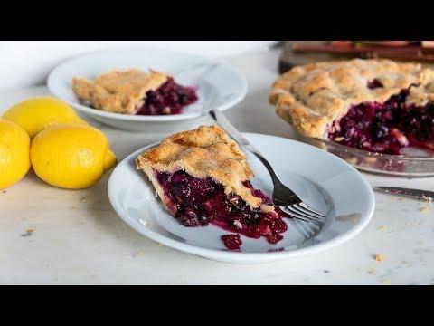 Rhubarb + Blueberry Pie