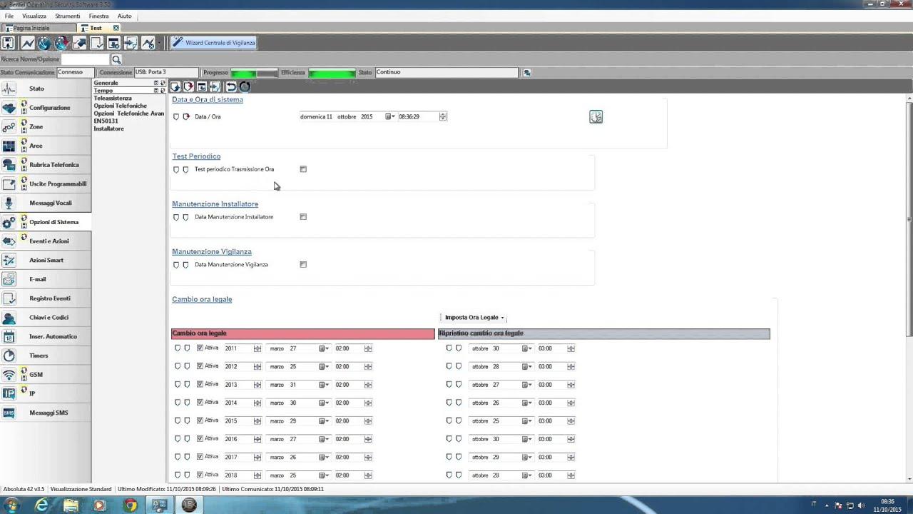 software bentel boss opzioni di sistema parte 4 youtube