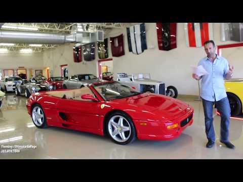 99 FERRARI F355 F1 SPIDER for sale with test drive, driving sounds, and walk through video