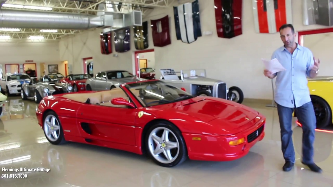 99 ferrari f355 f1 spider for sale with test drive, driving sounds