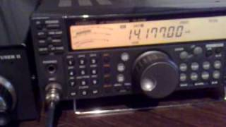 ja7dxx tnx for qso dxing with kenwood ts 570d 100w homemade 1 4wave antenna