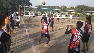 Delhi olampic  throwball. Palam sports club v/s raj sports club