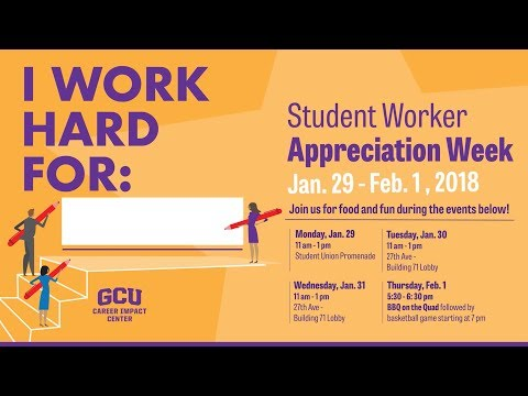 Student Worker Appreciation Week 2018
