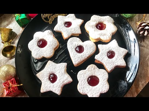 Linzer cookies recipe perfect holiday cookies Christmas recipes