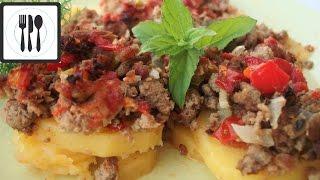 Картофель с фаршем, запеченные в духовке по-турецки / Patates kıymalı oturtma