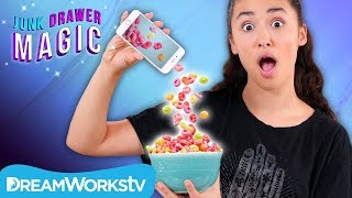 Cell Phone Cereal Trick | JUNK DRAWER MAGIC